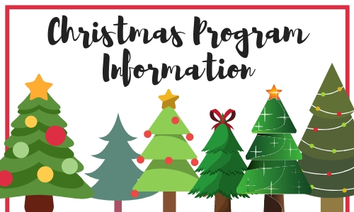 Christmas Program Information graphic.