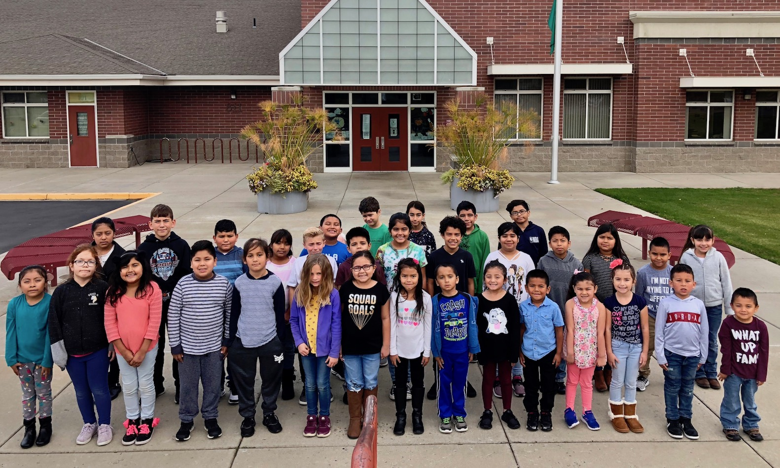 Photo of October Students of the Month.