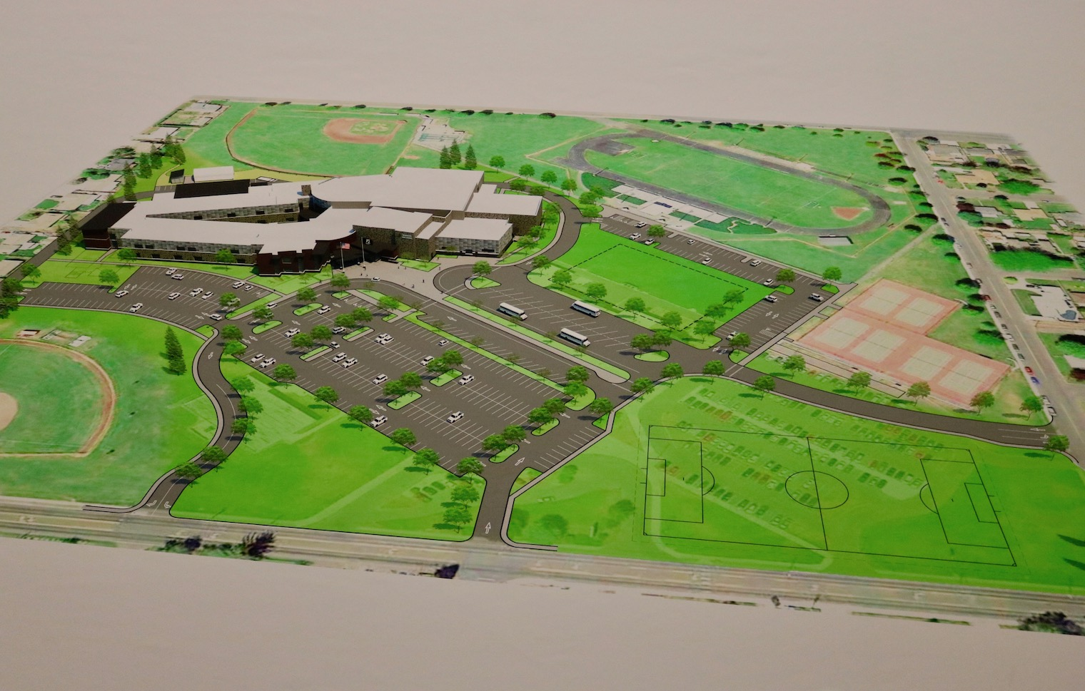 Picture of school site plan.