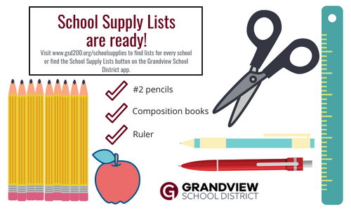 School supply lists are ready